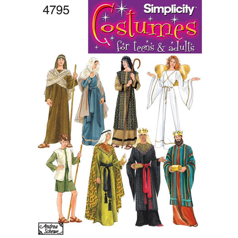 Simplicity Sewing Pattern 4795 - Women's, Men & Teen Costumes
