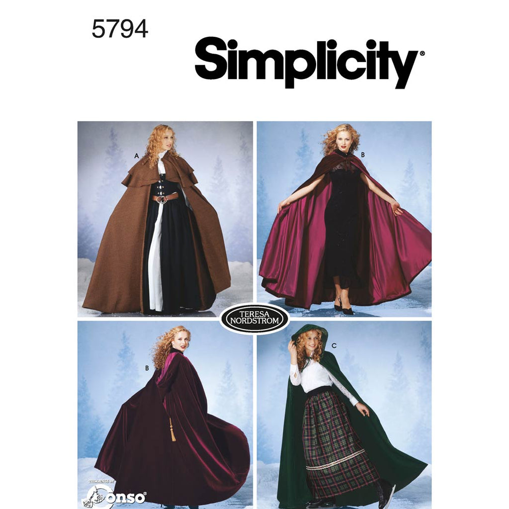 Simplicity Sewing Pattern 5794 - Women's Costumes