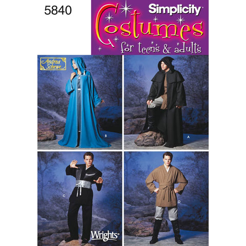 Simplicity Sewing Pattern 5840 - Women's, Men & Teen Costumes