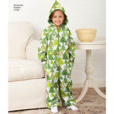 Simplicity Sewing Pattern 1731 - Child's, Teens' and Adults' Fleece Jumpsuit