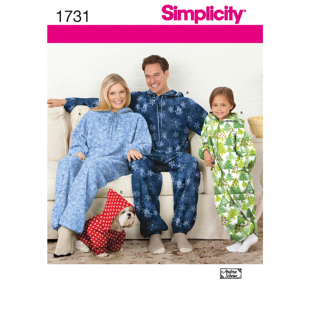 Simplicity Pattern 1731 - Child's, Teens' and Adults' Fleece Jumpsuit - My  Sewing Box
