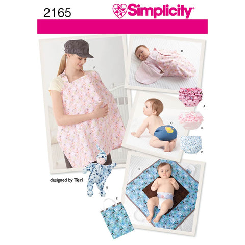 Simplicity Sewing Pattern 2165 - Baby Accessories