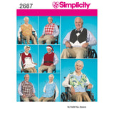 Simplicity Sewing Pattern 2687 - Adult Clothing Protectors & Hats