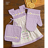 Simplicity Sewing Pattern 8109 - Towel Dresses, Pot Holders and Oven Mitts
