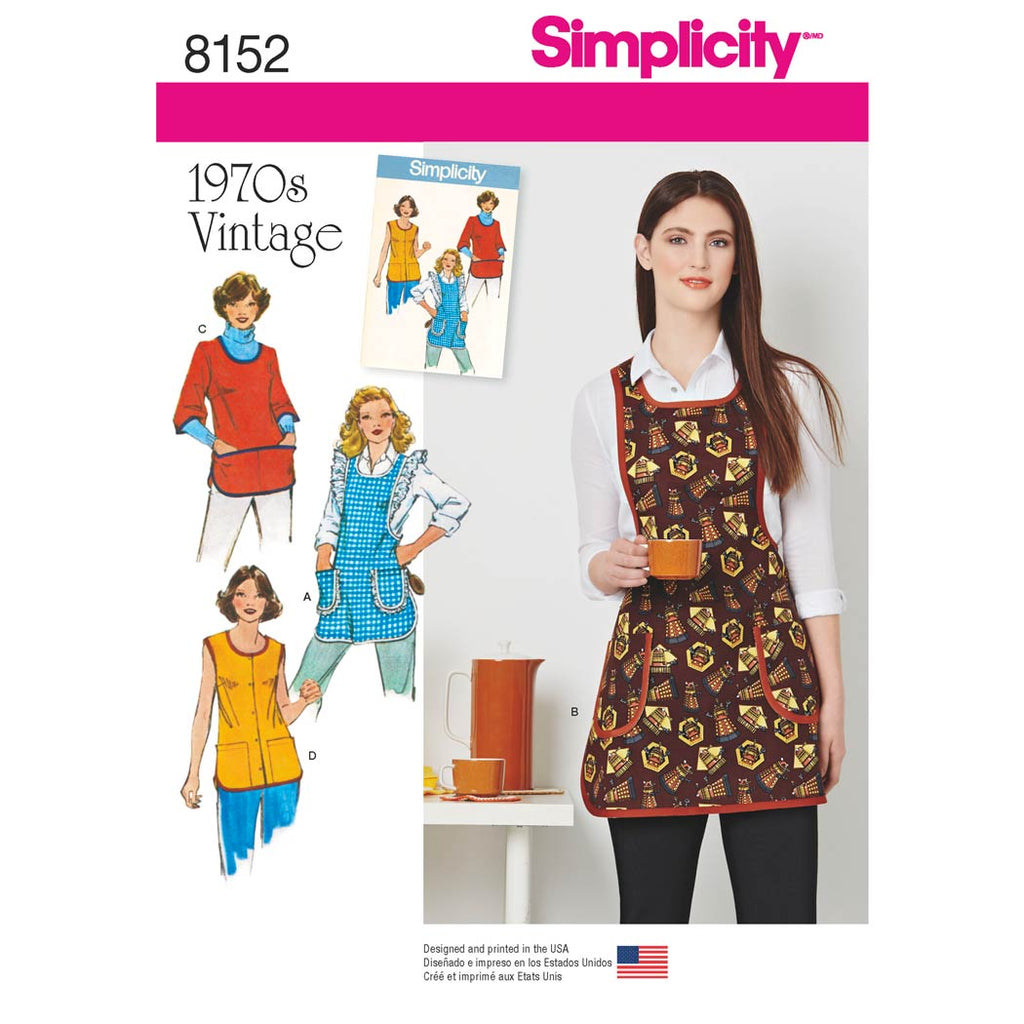 Simplicity Sewing Pattern 8152 - Women's Vintage 1970's Aprons