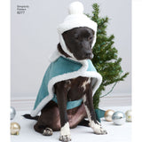 Simplicity Sewing Pattern 8277 - Fleece Dog Coats and Hats in Three Sizes