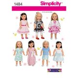 "Simplicity Sewing Pattern 1484 - 18"" Doll Clothes"