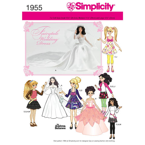 Simplicity Sewing Pattern 1955 - Doll Clothes