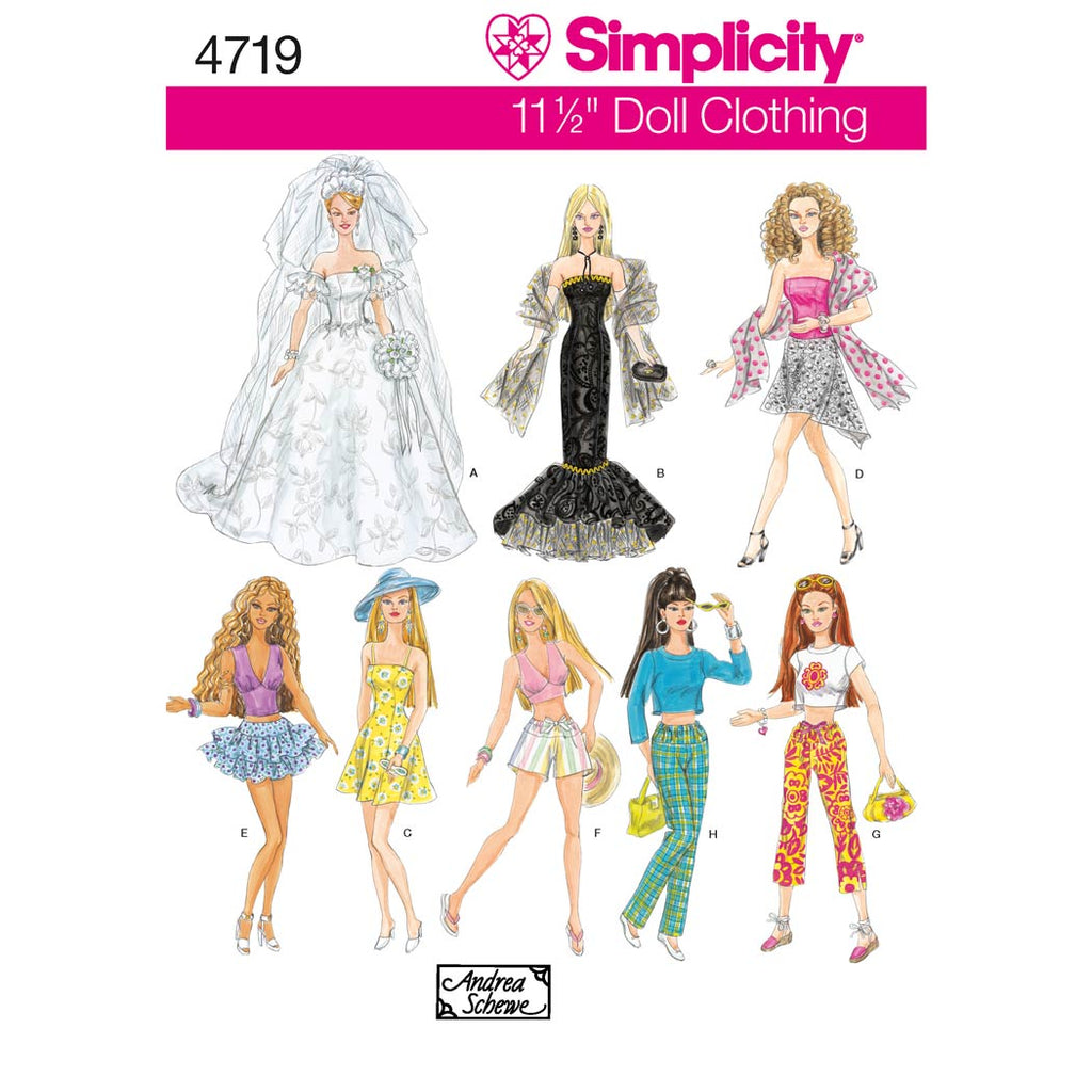 Simplicity Sewing Pattern 4719 - Doll Clothes