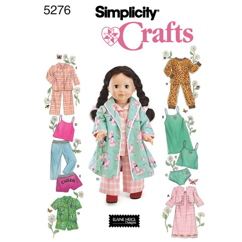 Simplicity Sewing Pattern 5276 - Doll Clothes