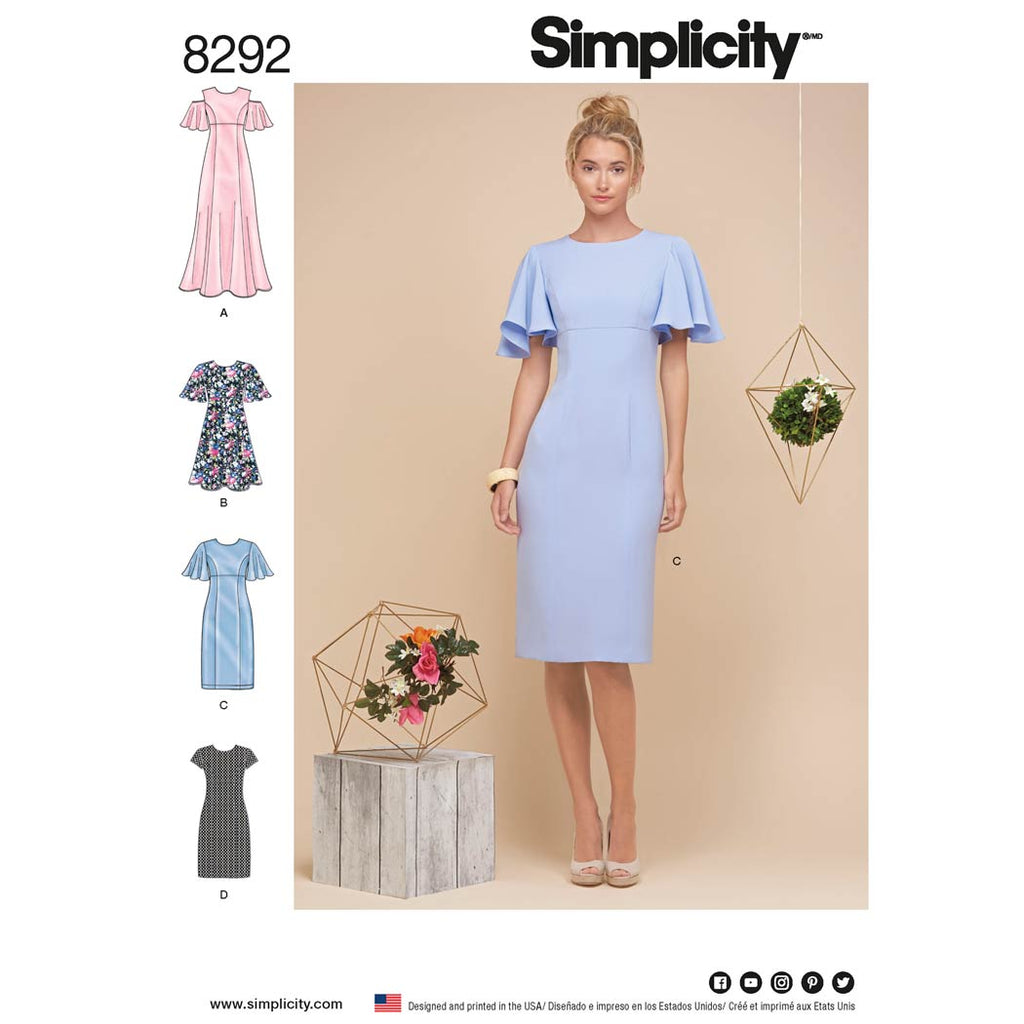 Simplicity Sewing Pattern 8292 - Women's Dresses