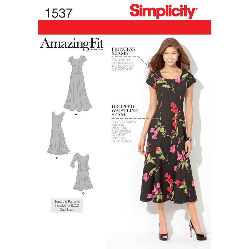 Simplicity Sewing Pattern 1537 - Women's and Plus Size Amazing Fit Dress