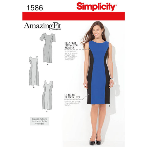 Simplicity Sewing Pattern 1586 - Women's and Plus Size Amazing Fit Dress