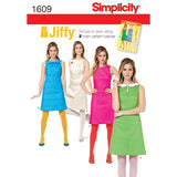 Simplicity Sewing Pattern 1609 - Women's Jiffy 1960's Vintage Dress