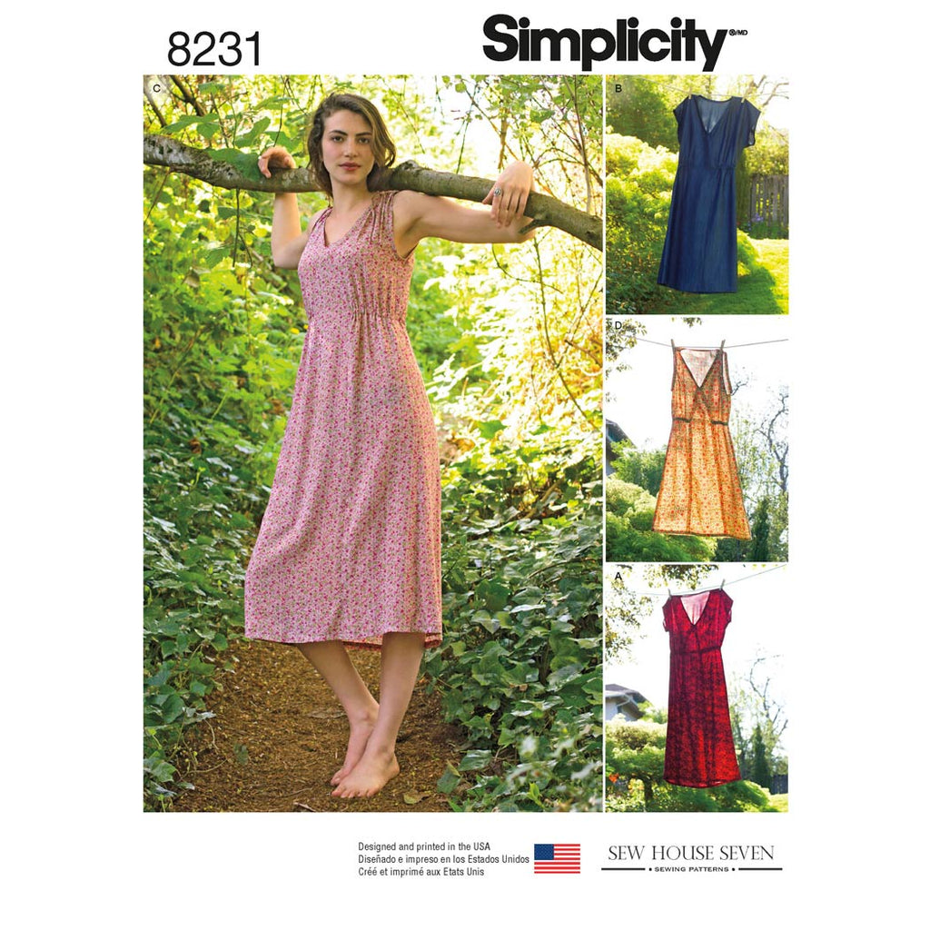 Simplicity Sewing Pattern S8231 - Women's Dress in Two Lengths