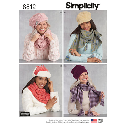 Simplicity Sewing Pattern 8812 - Misses Cold Weather Accessories