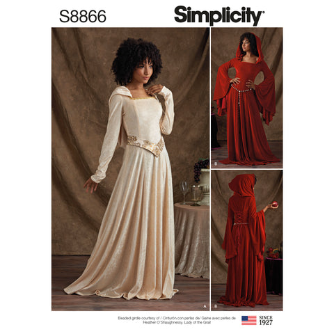 Simplicity Sewing Pattern S8866 - Misses'/ Miss Petite Knit Costumes