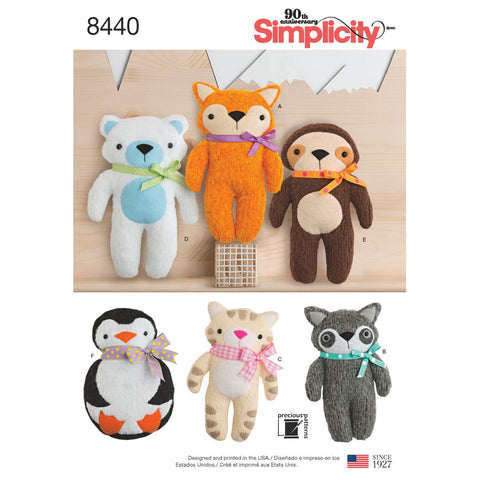 Simplicity Sewing Pattern 8440 - Stuffed Craft