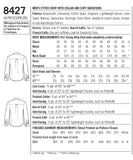 Simplicity Sewing Pattern 8427 - Men's Fitted Shirt with Collar & Cuff Variations by Mimi G