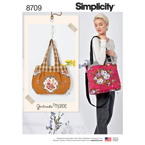 Simplicity Sewing Pattern 8709 - Gertrude Made Bags
