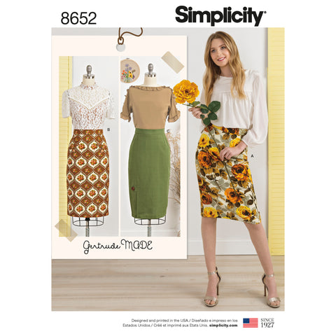 Simplicity Sewing Pattern 8652 - Women's Skirts
