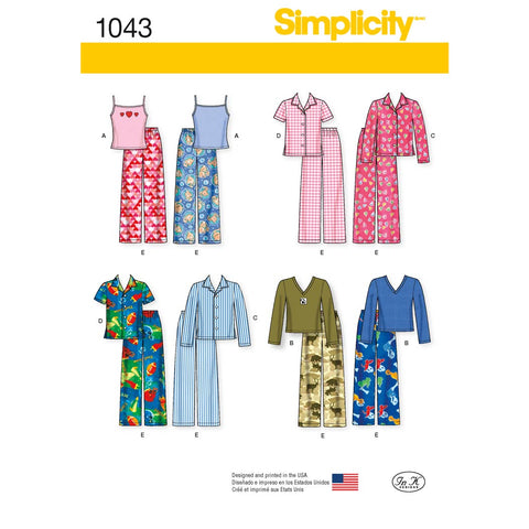 Simplicity Sewing Pattern 1043  - Child's, Girls' and Boys' Separates