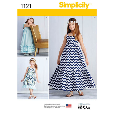 Simplicity Sewing Pattern 1121 - Child's and Girls' Pullover Dresses