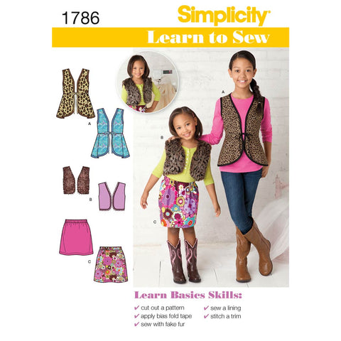 Simplicity Sewing Pattern 1786 - Learn to Sew Child's & Girls' Sportswear