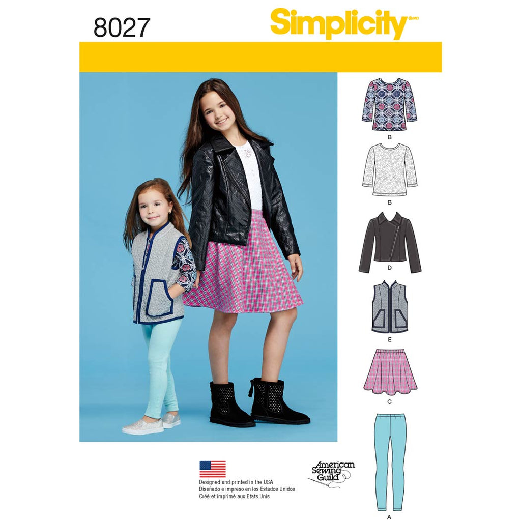 Simplicity Sewing Pattern 8027 - Child's and Girls' Sportswear