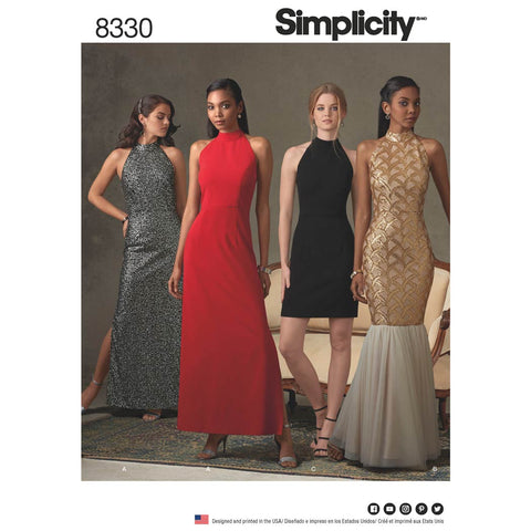 Simplicity Sewing Pattern 8330 - Women's Dress with Skirt and Back Variations
