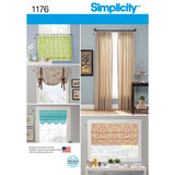 Simplicity Sewing Pattern 1176 - Window Treatments