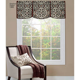 "Simplicity Sewing Pattern 1383 - Valances for 36"" to 40"" Wide Windows"