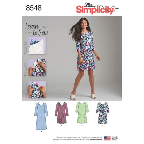 Simplicity Sewing Pattern 8548 - Women's' Knit Dress