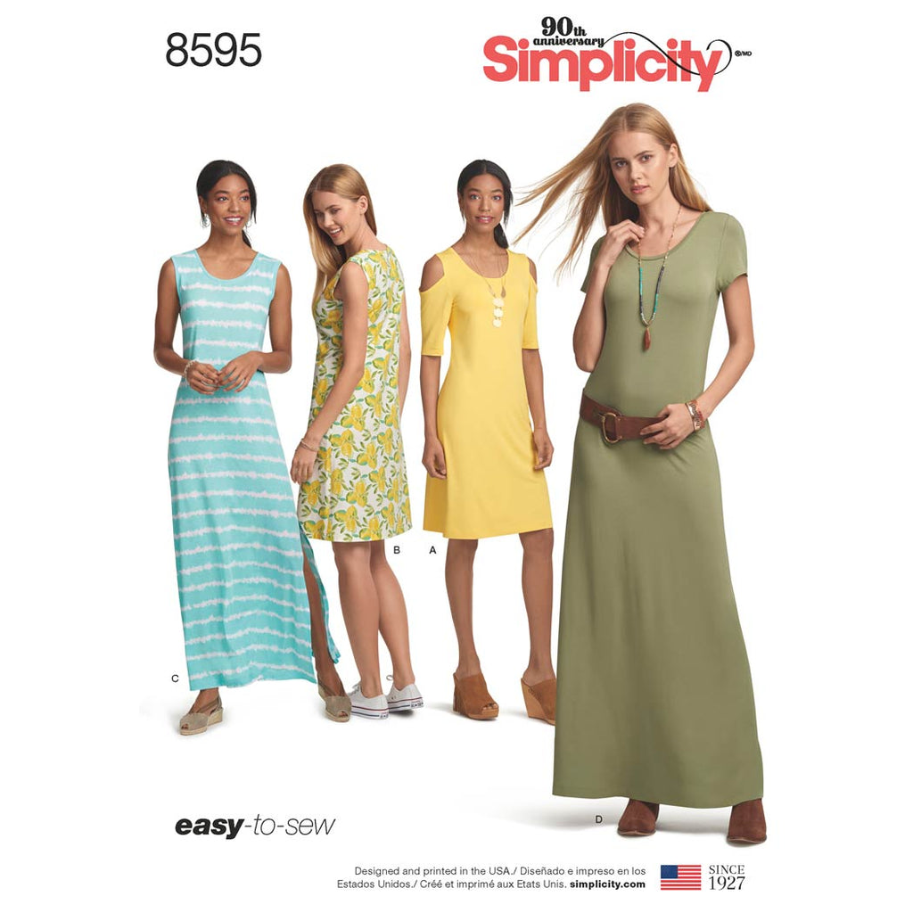 Simplicity Sewing Pattern 8595 - Women's Knit Dresses