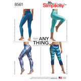 Simplicity Sewing Pattern 8561 - Women's Leggings