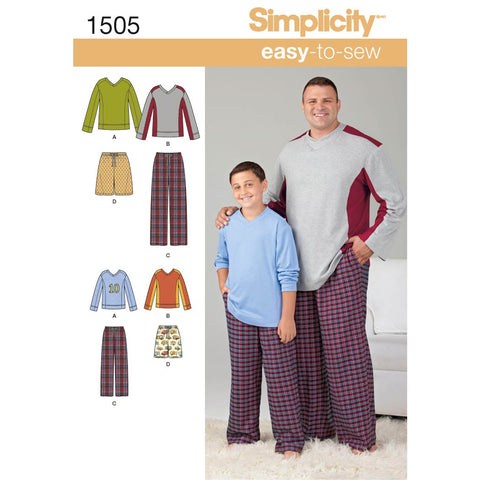Simplicity Sewing Pattern 1505 - Husky Boys' & Big & Tall Men's Tops and Trousers