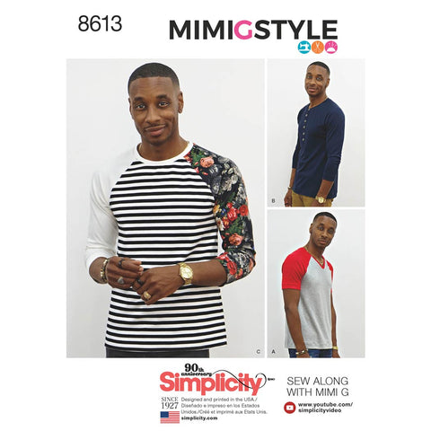 Simplicity Sewing Pattern 8613 - Men's Knit Top by Mimi G