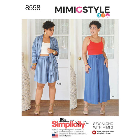 Simplicity Sewing Pattern 8558 - Women's' Separates by Mimi G Style