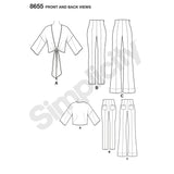 Simplicity Sewing Pattern 8655 - Mimi G High Waisted Trousers and Tie Top