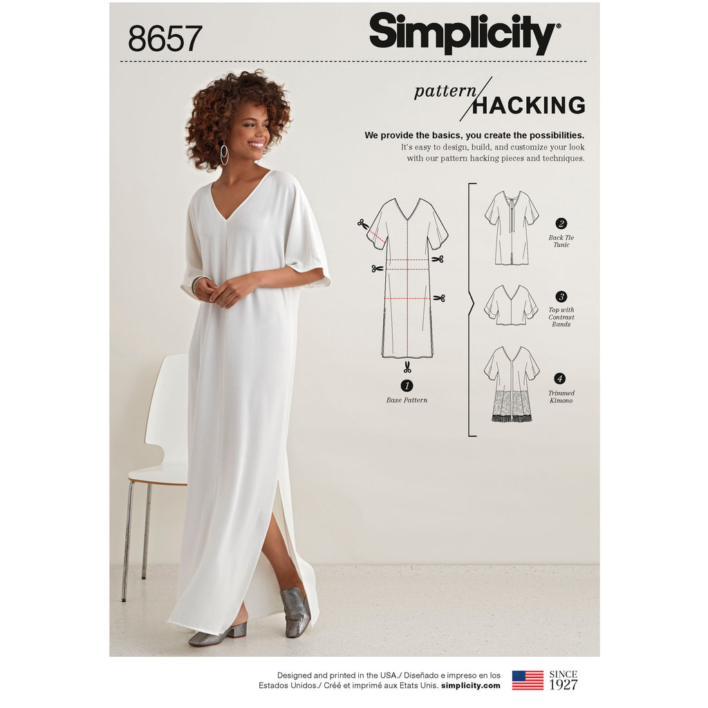 Simplicity Sewing Pattern S8657 - Women's Caftan with Options for Design Hacking