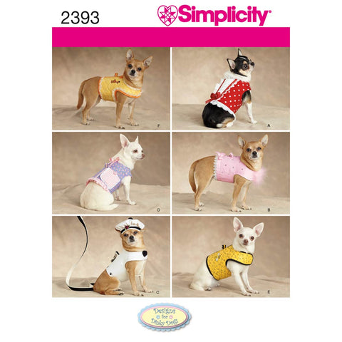 Simplicity Sewing Pattern 2393 - Dog Clothes
