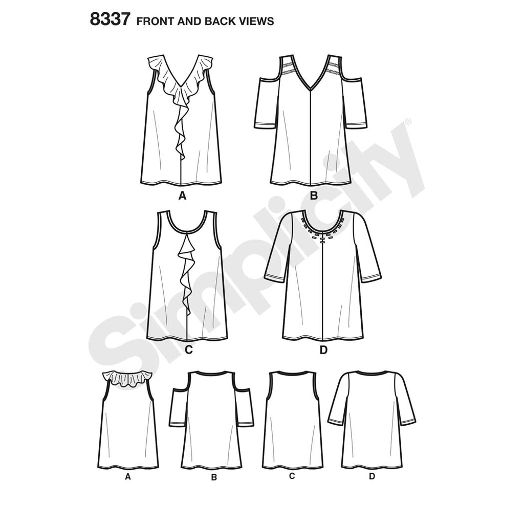 22b14fb9d34f Simplicity 8337 - Women s Knit Tops with Bodice and Sleeve ...