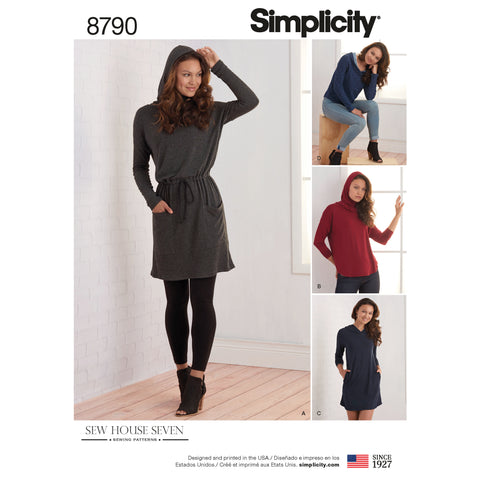 Simplicity Sewing Pattern 8790 - Misses Knit Dresses and Tunics