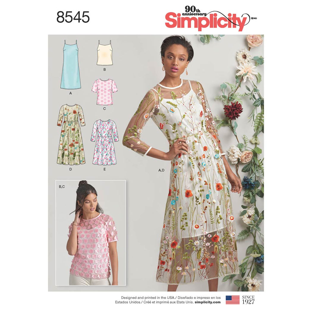 Simplicity Sewing Pattern 8545 - Women's / Petite Women's Dress and Top