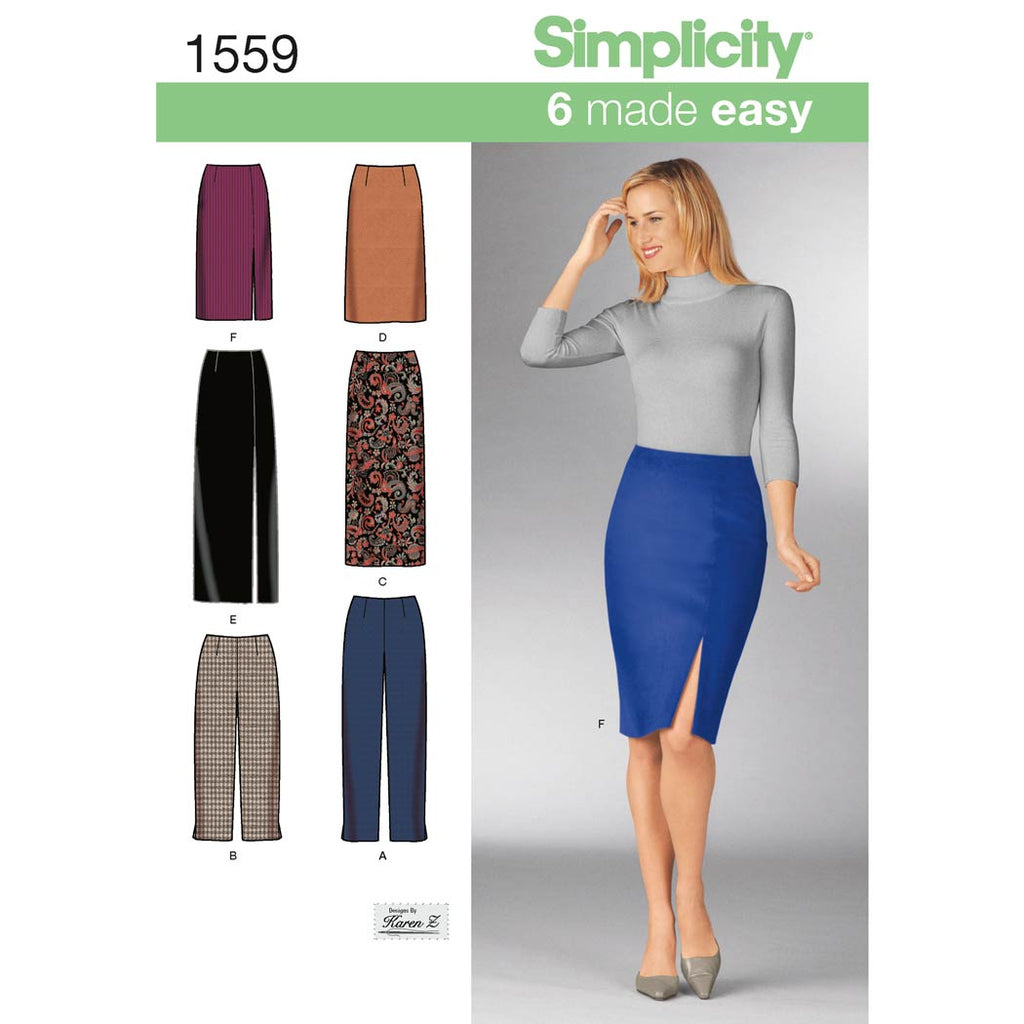 Simplicity Sewing Pattern 1559 - Women's Skirts and Trousers