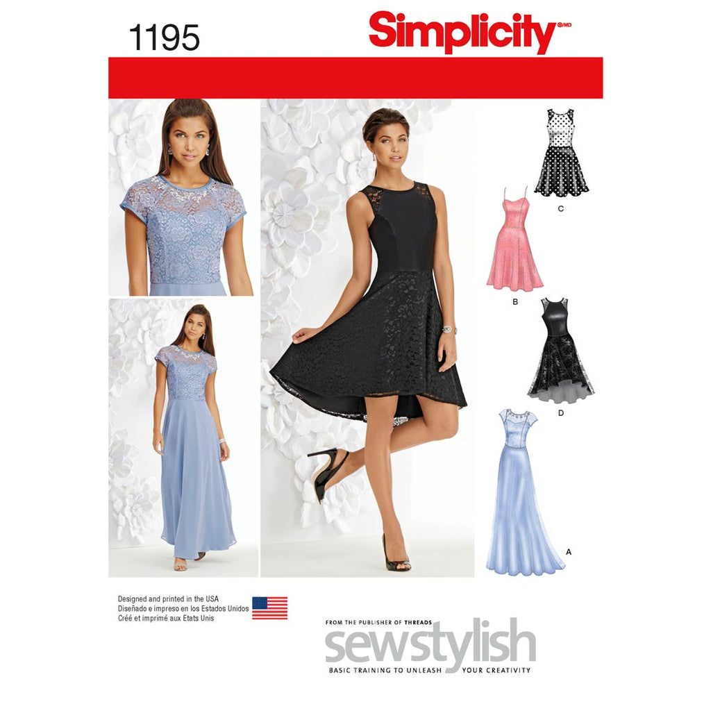 Simplicity Sewing Pattern 1195 - Women's and Petite Special Occasion Dress