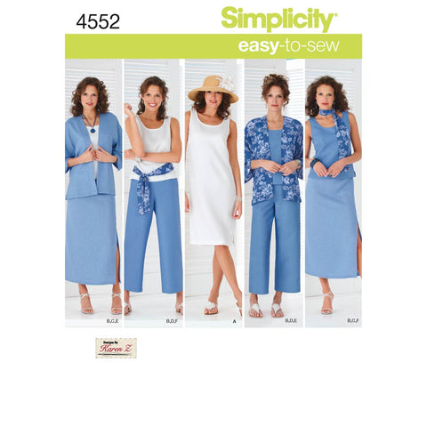 Simplicity Sewing Pattern 4552 - Women's & Plus Size Smart and Casual Wear