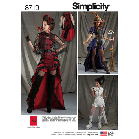 Simplicity Sewing Pattern 8719 - Women's Costumes