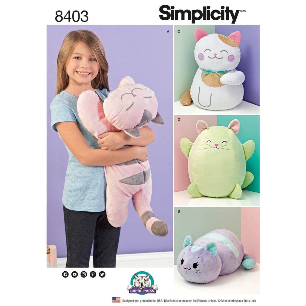 Simplicity Sewing Pattern 8403 - Stuffed Kitties