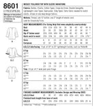 Simplicity Sewing Pattern 8601 - Women's Pullover Top